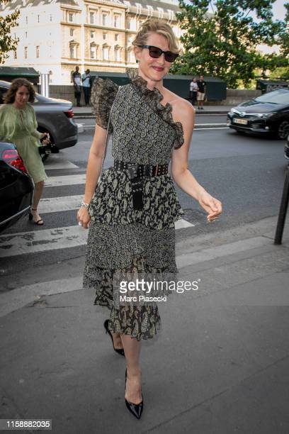 Actress Laura Dern arrives at the 'Laperouse' restaurant on June 28 2019 in Paris France