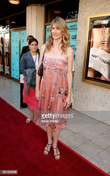 Actress Laura Dern arrives at the Los Angeles Film Festival Premiere of Happy Endings at the Mann's National Theatre on June 26 2005 in Westwood...