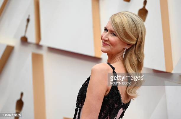 US actress Laura Dern arrives for the 92nd Oscars at the Dolby Theatre in Hollywood California on February 9 2020