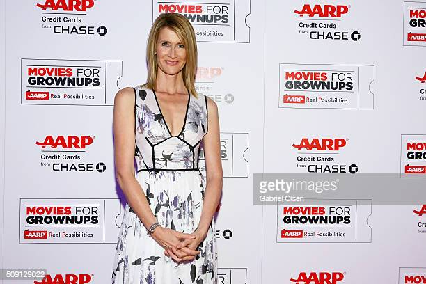 Actress Laura Dern attends AARP's Movie For GrownUps Awards at the Beverly Wilshire Four Seasons Hotel on February 8 2016 in Beverly Hills California