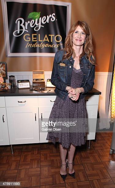 Actress Laura Dern attends Breyers Gelato Indulgences in the On3 Official Presenter Gift Lounge during the 2014 Film Independent Spirit Awards at...