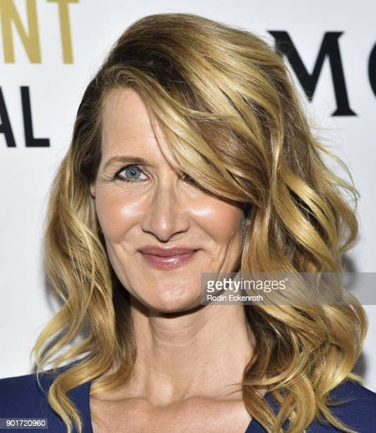 Actress Laura Dern attends Moet and Chandon Celebrates 3rd Annual Moet Moment Film Festival and kick off of Golden Globes Week at Poppy on January 5...