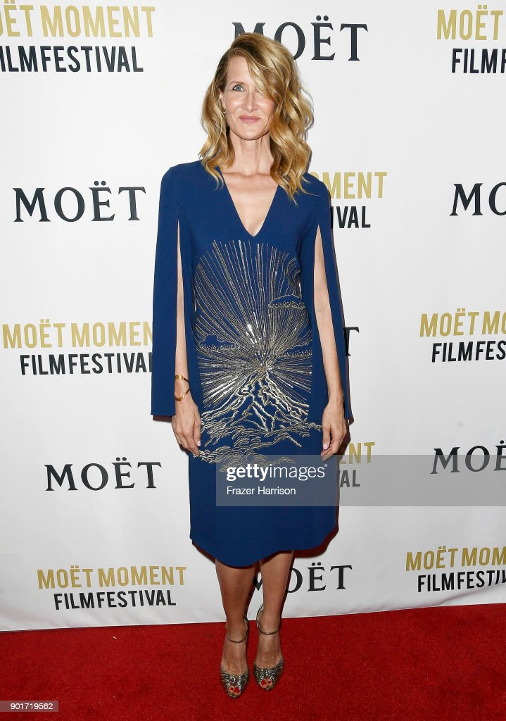 Actress Laura Dern attends Moet & Chandon Celebrates 3rd Annual Moet Moment Film Festival and Kick Off of Golden Globes Week at Poppy on January 5, 2018 in Los Angeles, California.