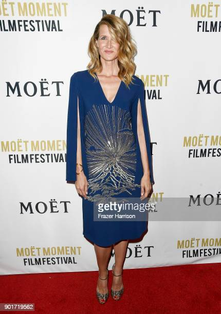 Actress Laura Dern attends Moet Chandon Celebrates 3rd Annual Moet Moment Film Festival and Kick Off of Golden Globes Week at Poppy on January 5 2018...
