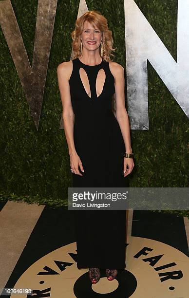 Actress Laura Dern attends the 2013 Vanity Fair Oscar Party at the Sunset Tower Hotel on February 24, 2013 in West Hollywood, California.