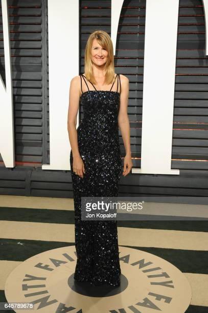 Actress Laura Dern attends the 2017 Vanity Fair Oscar Party hosted by Graydon Carter at Wallis Annenberg Center for the Performing Arts on February...