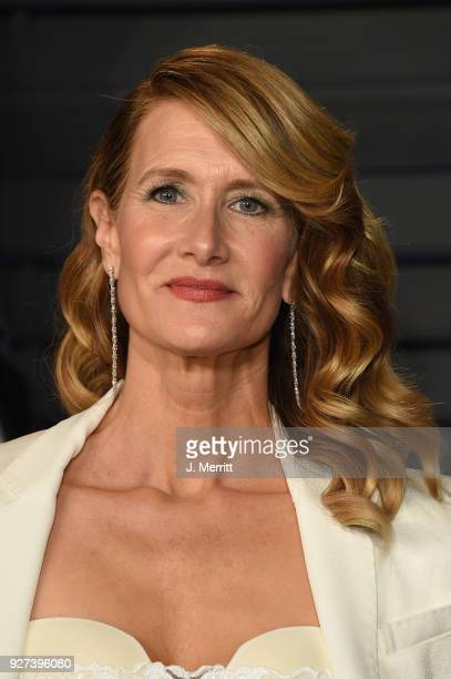 Actress Laura Dern attends the 2018 Vanity Fair Oscar Party hosted by Radhika Jones at the Wallis Annenberg Center for the Performing Arts on March 4...