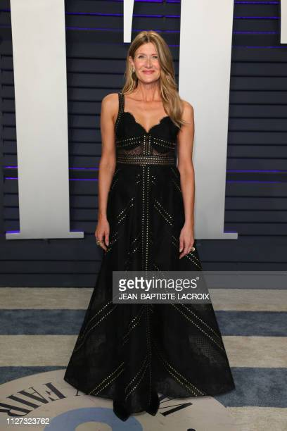 US actress Laura Dern attends the 2019 Vanity Fair Oscar Party following the 91st Academy Awards at The Wallis Annenberg Center for the Performing...