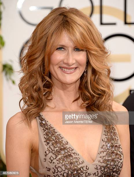 Actress Laura Dern attends the 71st Annual Golden Globe Awards held at The Beverly Hilton Hotel on January 12 2014 in Beverly Hills California