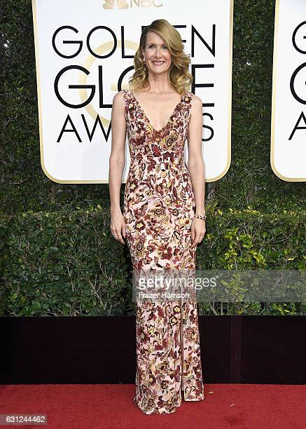 Actress Laura Dern attends the 74th Annual Golden Globe Awards at The Beverly Hilton Hotel on January 8 2017 in Beverly Hills California