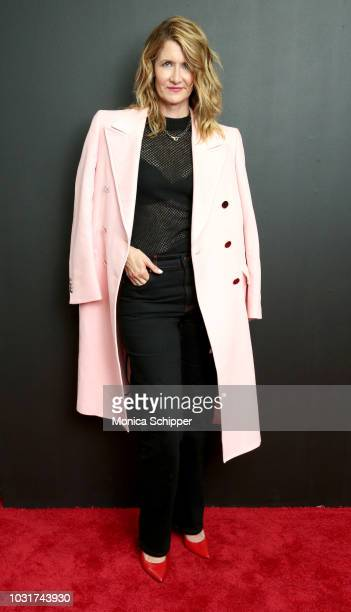 Actress Laura Dern attends the Calvin Klein Collection fashion show at New York Stock Exchange on September 11 2018 in New York City
