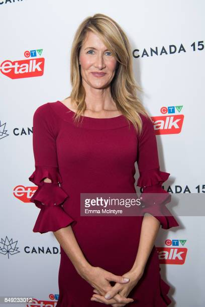 Actress Laura Dern attends the Canadian consulate's celebration for the Canadian Emmy Nominees at the Official Residence Of Canada on September 18...