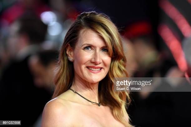 Actress Laura Dern attends the European Premiere of 'Star Wars The Last Jedi' at Royal Albert Hall on December 12 2017 in London England