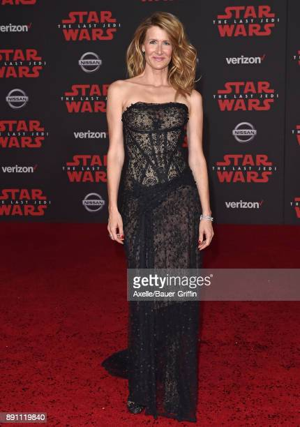 Actress Laura Dern attends the Los Angeles premiere of 'Star Wars The Last Jedi' at The Shrine Auditorium on December 9 2017 in Los Angeles California