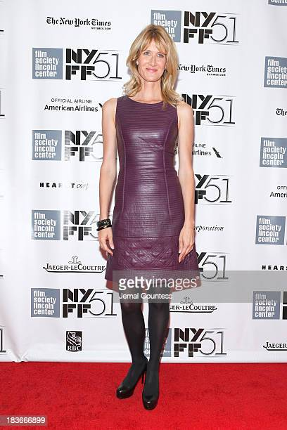 Actress Laura Dern attends the 'Nebraska' premiere during the 51st New York Film Festival at Alice Tully Hall at Lincoln Center on October 8 2013 in...