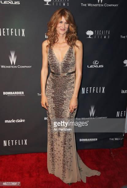 Actress Laura Dern attends The Weinstein Company Netflix's 2014 Golden Globes After Party presented by Bombardier FIJI Water Lexus Laura Mercier...