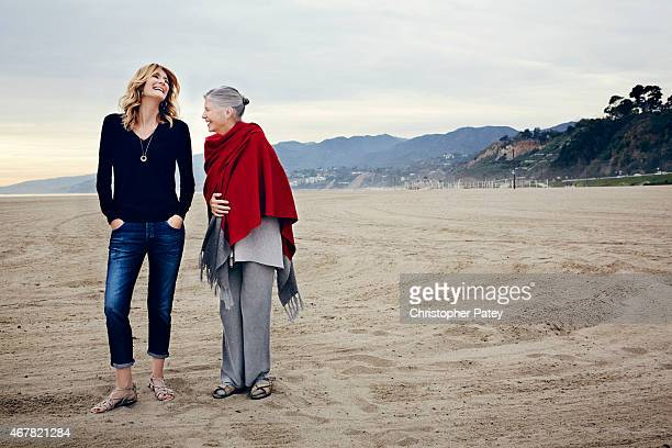 Actress Laura Dern is photographed with her acting coach Sandra Seacat for The Hollywood Reporter on January 29 2015 in Santa Monica California