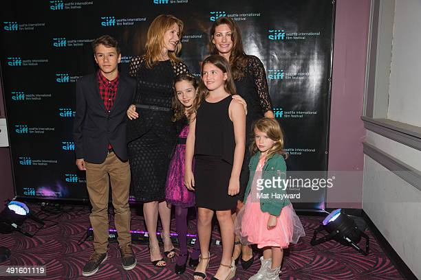 Actress Laura Dern , Jill Vedder and children attend the screening of the film 'The Fault in Our Stars' during the Seattle International Film...