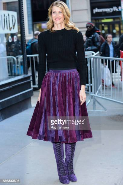 Actress Laura Dern leaves the AOL Build taping at the AOL Studios on March 21 2017 in New York City