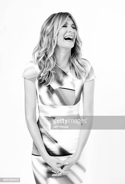 Actress Laura Dern poses for a portraits at the 87th Academy Awards Nominee Luncheon at the Beverly Hilton Hotel on February 2 2015 in Beverly Hills...