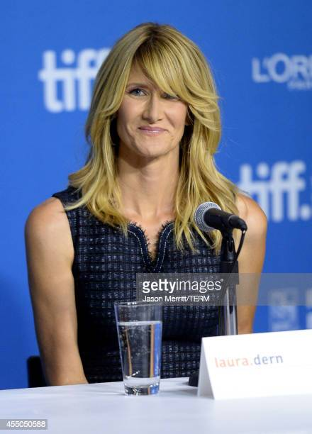Actress Laura Dern speaks onstage at '99 Homes' Press Conference during the 2014 Toronto International Film Festival at TIFF Bell Lightbox on...