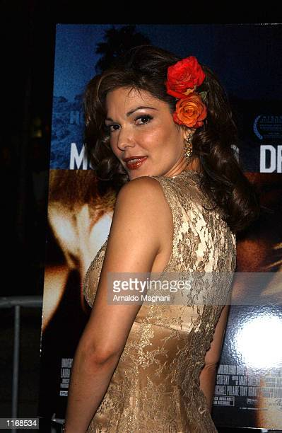 Actress Laura Elana Harring arrives at the premiere of her film Mulholland Drive October 7 2001 at the Lincoln Center in New York City
