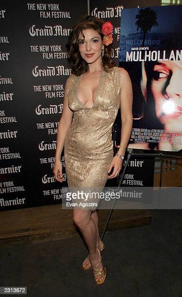 Actress Laura Elena Harring at the Mulholland Drive screening at the New York Film Festival at Alice Tully Hall Lincoln Center in New York City...