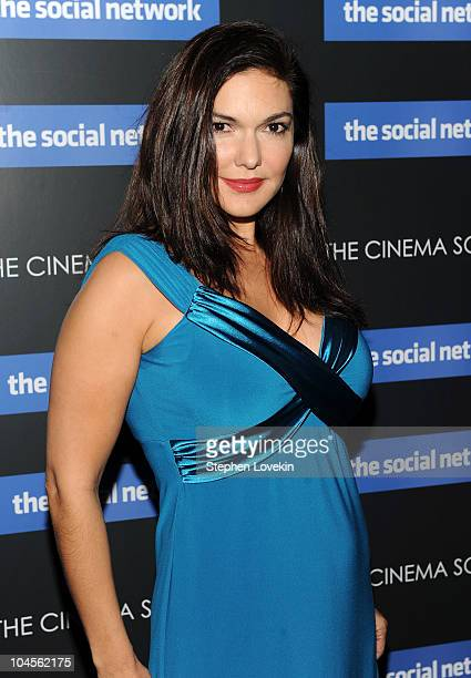 Actress Laura Elena Harring attends Columbia Pictures' and The Cinema Society's screening of The Social Network at the School of Visual Arts Theater...