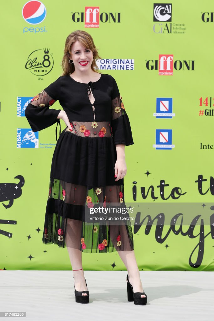 Actress Laura Esquivel attends Giffoni Film Festival 2017 Day 5 photocall on July 18, 2017 in Giffoni Valle Piana, Italy.