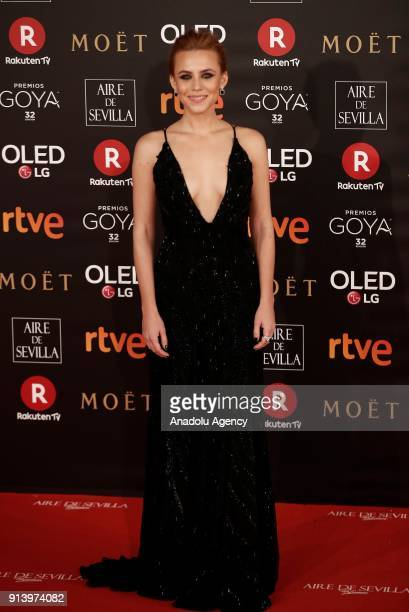 Actress Laura Garrido attends the 32th edition of the Goya Awards ceremony in Madrid Spain on February 04 2018