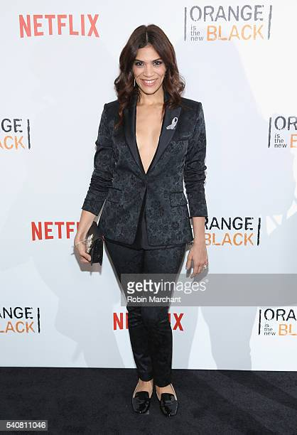 Actress Laura Gomez attends 'Orange Is The New Black' New York City Premiere at SVA Theater on June 16 2016 in New York City