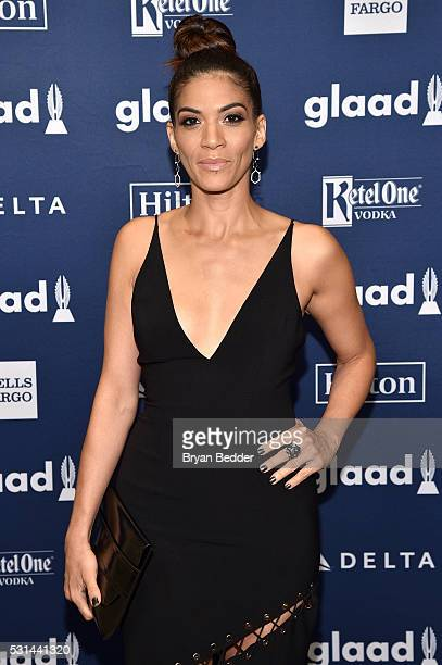 Actress Laura Gomez attends the 27th Annual GLAAD Media Awards in New York on May 14 2016 in New York City