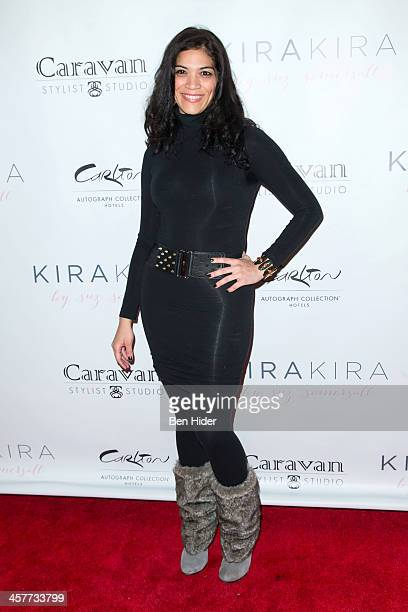 Actress Laura Gomez attends the 'Orange Is The New Black My Year In Women's Prison' charity book shopping experience at Carlton Hotel on December 18...