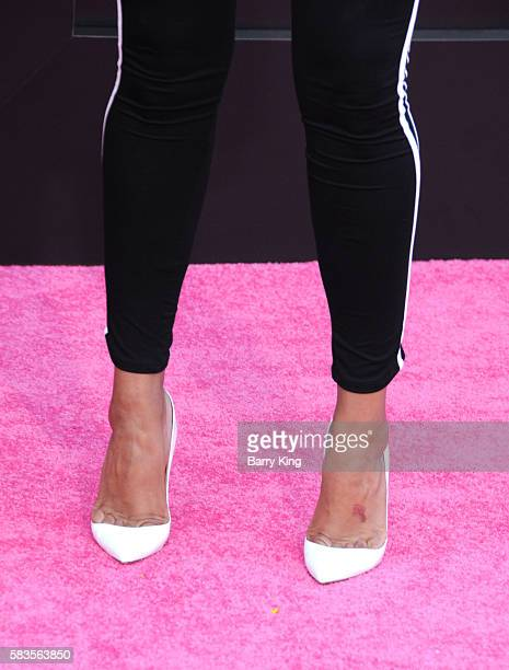 Actress Laura Govan shoe detail attends the premiere of STX Entertainment's' 'Bad Moms' at Mann Village Theatre on July 26 2016 in Westwood California