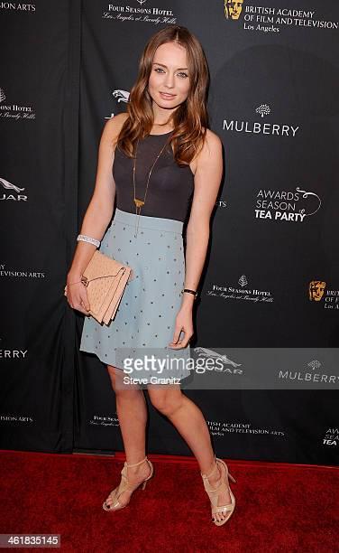 Actress Laura Haddock arrives at the BAFTA Los Angeles Awards Season Tea Party at the Four Seasons Hotel Los Angeles at Beverly Hills on January 11...