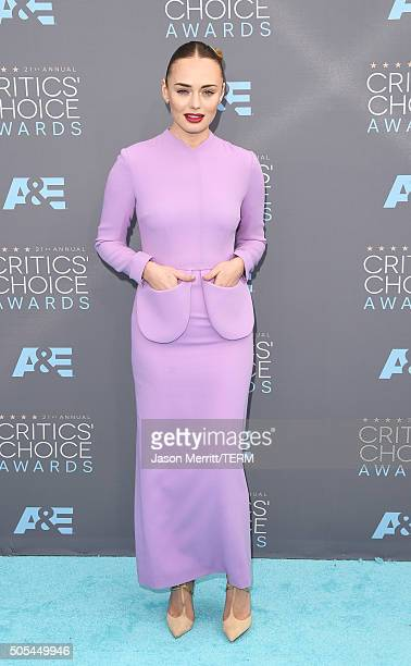 Actress Laura Haddock attends the 21st Annual Critics' Choice Awards at Barker Hangar on January 17 2016 in Santa Monica California