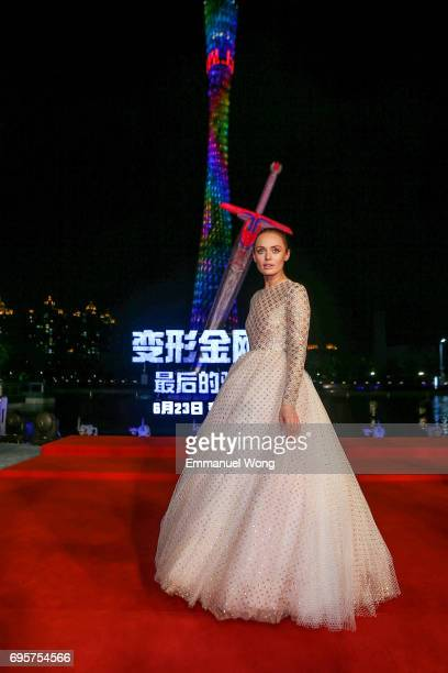 Actress Laura Haddock attends the 'Transformers The Last Knight' China World Premiere and Ten Year Anniversary Celebration at Haixinsha Asian Olympic...