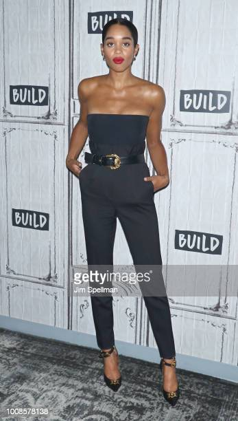 Actress Laura Harrier attends the Build Series to discuss BlacKkKlansman at Build Studio on July 31 2018 in New York City