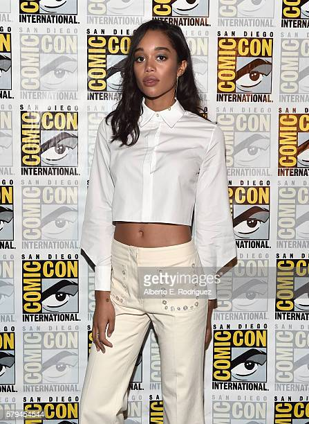 """Actress Laura Harrier from Marvel Studios' 'SpiderMan Homecoming"""" attends the San Diego ComicCon International 2016 Marvel Panel in Hall H on July 23..."""