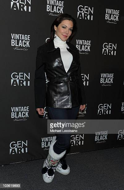 Actress Laura Harring arrives at the Kenneth Cole Vintage Black party at the Gen Art Lounge on January 23 2010 in Park City Utah