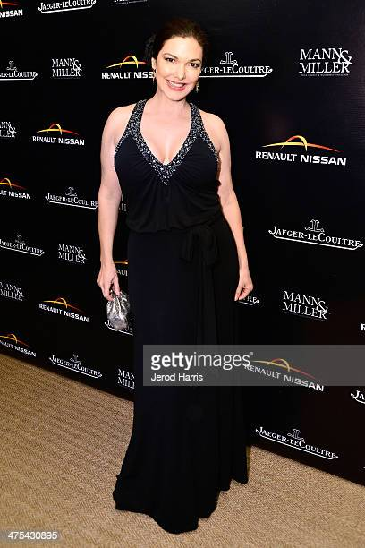 Actress Laura Harring attends a private screening and intimate dinner hosted by Carmen and Dolores Chaplin Mann Miller with the support of...