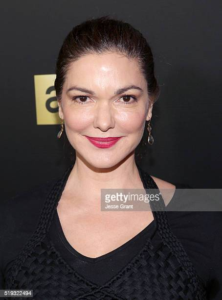 Actress Laura Harring attends the premiere of AMC's The Night Manager at DGA Theater on April 5 2016 in Los Angeles California