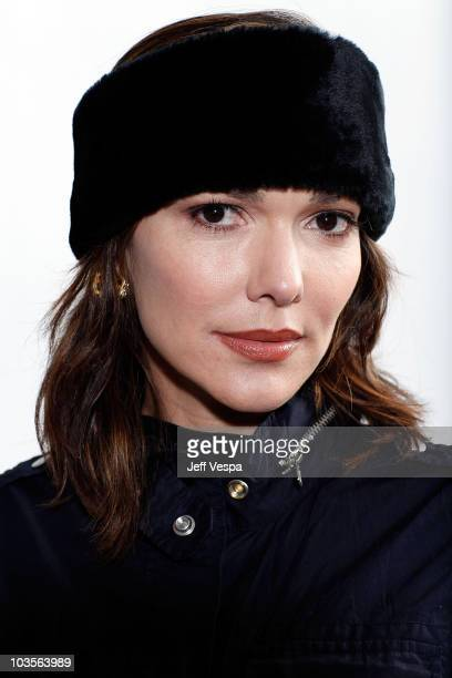 Actress Laura Harring poses for a portrait during the 2009 Sundance Film Festival held at the Film Lounge Media Center on January 18 2009 in Park...