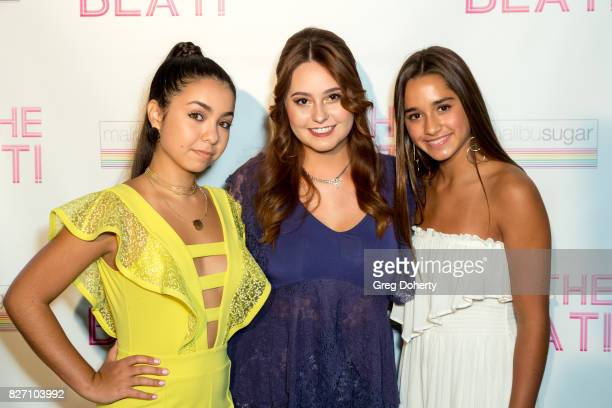 Actress Laura Krystine Director Jillian Clare and Actress Brisa Lalich arrive for the 'To The Beat' Special Screening at The Colony Theatre on August...