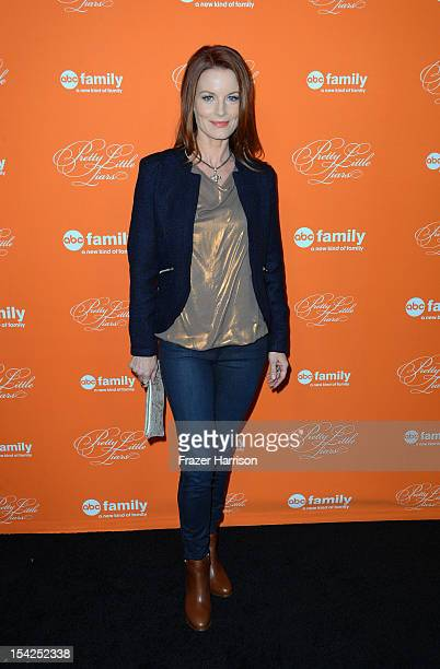 Actress Laura Leighton arrives at at the Screening Of ABC Family's Pretty Little Liars Special Halloween Episode at Hollywood Forever Cemetery on...