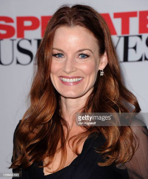 Actress Laura Leighton arrives at Disney ABC Television Group Hosts 'Desperate Housewives' Final Season KickOff Party on September 21 2011 in...