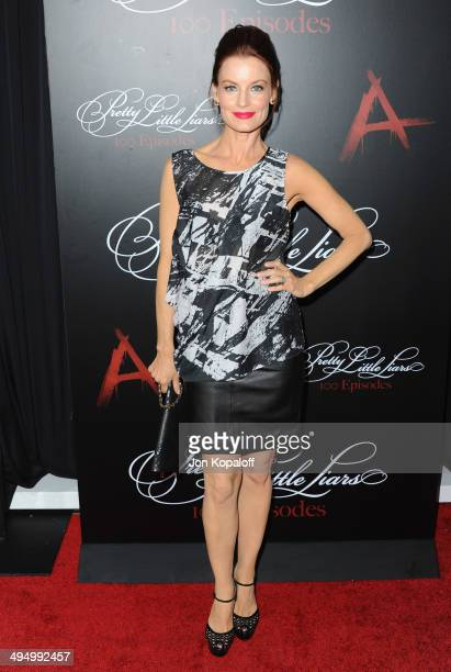 Actress Laura Leighton arrives at 'Pretty Little Liars' Celebrates 100 Episodes at W Hollywood on May 31 2014 in Hollywood California
