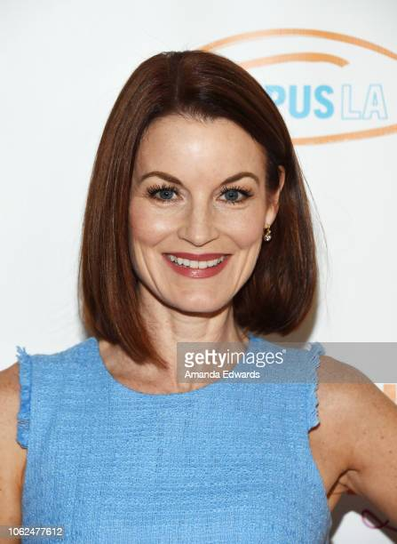 Actress Laura Leighton arrives at the Lupus LA 16th Annual Hollywood Bag Ladies Luncheon at The Beverly Hilton Hotel on November 16 2018 in Beverly...