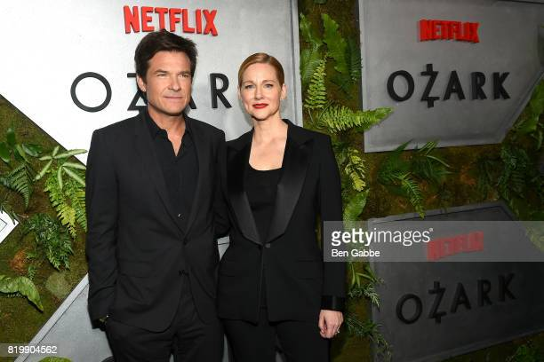 Actress Laura Linney and actor Jason Bateman attend the Netflix Original 'Ozark' New York screening at The Metrograph on July 20 2017 in New York City