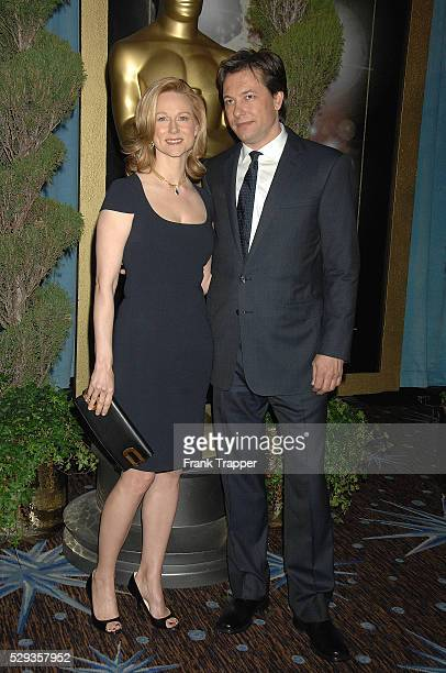 Actress Laura Linney and fiance Marc Schauer arrive at the Academy Awards�� Nominees Luncheon held at the Beverly Hilton Hotel